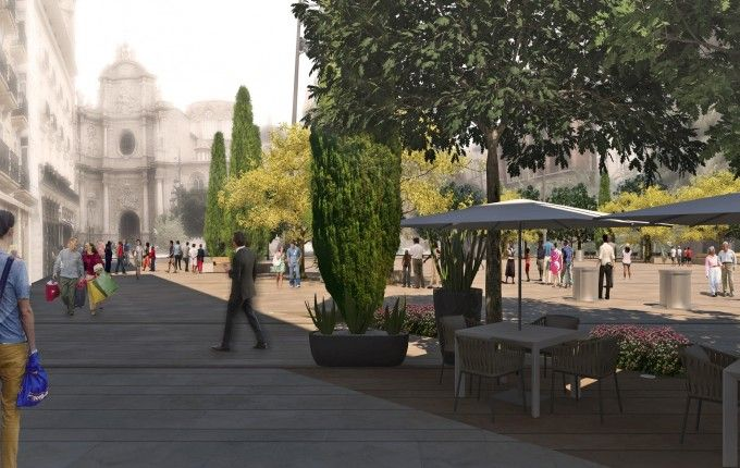 Remodelación Plaza de la Reina