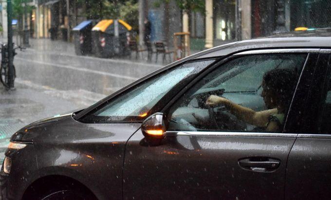 Lluvia valencia coche