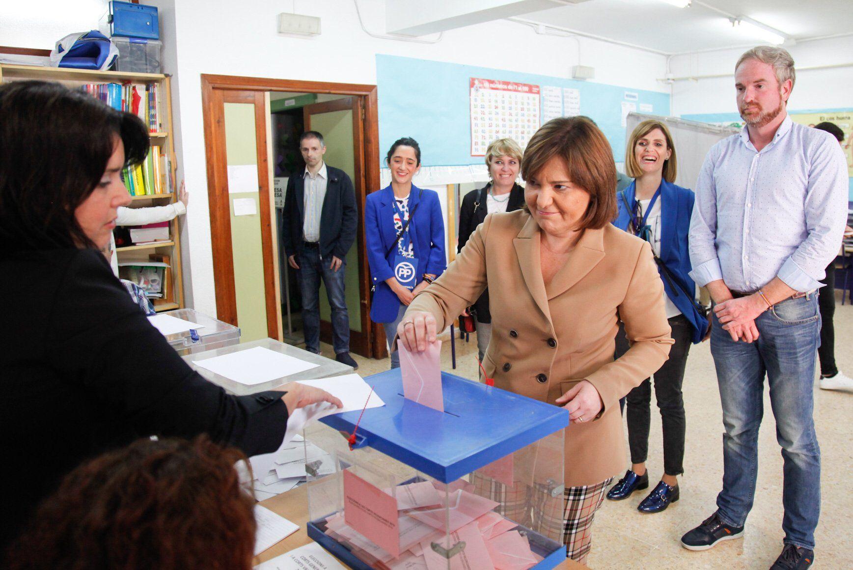 Isabel Bonig votando 2019