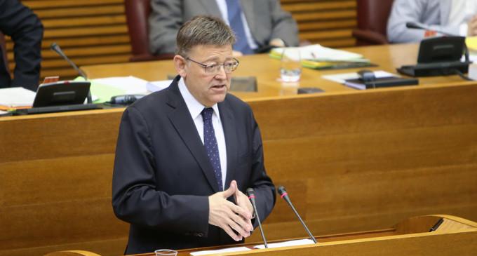 Puig proposa que la comissió mixta del Consell i els grups parlamentaris treballen en la 'reforma urgent del sistema de finançament'