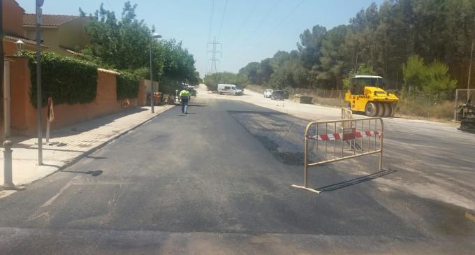 L'Ajuntament finalitza les obres de millora del drenatge del carrer 136 en la Canyada