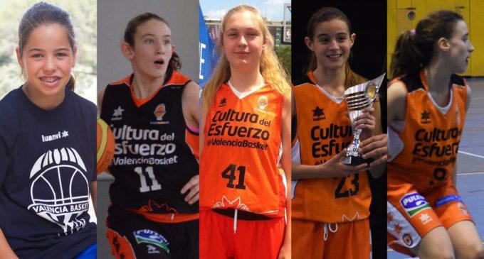 Cinc jugadores infantils de Valencia Basket, a la Selecció Espanyola