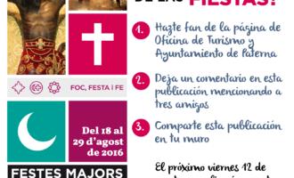 L'Oficina de Turisme de Paterna sorteja un Llibre de Festes i seients en primera fila per a les desfilades de moros i cristians