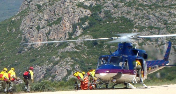 Los helicópteros de la Generalitat han realizado 229 servicios de emergencias sanitarias y rescates este año