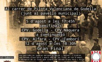 Pilota Valenciana com a aperitiu a les festes de Godella