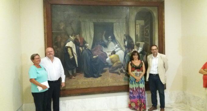 El Museu de Belles Arts incorpora l'obra restaurada 'La mort del Quixot', de l'alacantí José López Tomás