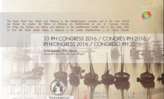 València acull el 33 Congrés Internacional de l'Associació Internacional d'Historiadors de Paper