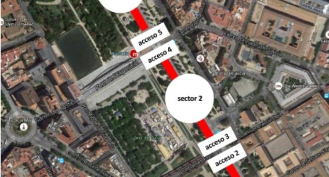 L'Ajuntament habilitarà diumenge en tarongers 1.100 places alternatives d'aparcament per als assistents als partits de futbol