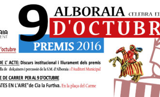 Alboraya se prepara para la octava edición de los Premios 9 d'Octubre