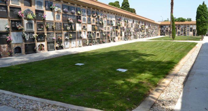 El Ayuntamiento finaliza las obras para reparar la zona de fosas del cementerio del Cabanyal