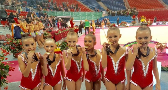 Las gimnastas del Club de Gimnasia Rítmica Alboraya ganan el Torneo Euskalgym