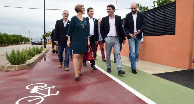 La Diputació amplia la xarxa comarcal de vies per a ciclistes i vianants amb accions a Rafelguaraf, Riba-roja i el Mareny