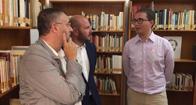 El diputat Toni Gaspar celebra el dia de la Biblioteca amb la inauguració del nou centre de Castelló de Rugat finançat per la Diputació
