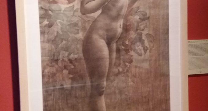 L'original de 'Nu femení', d'Enrique Pertegás, en la Biblioteca Valenciana