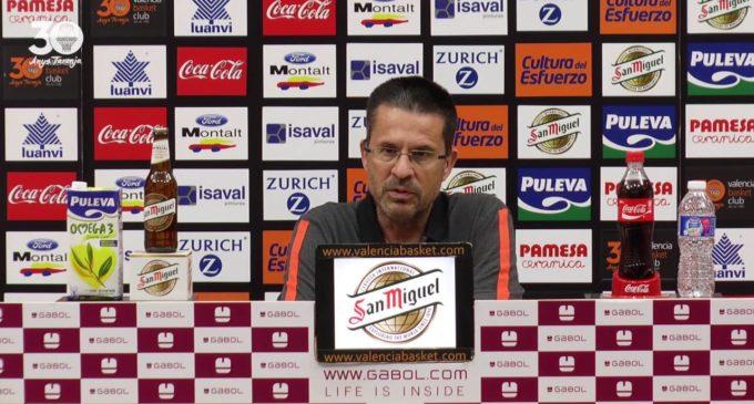 """Pedro Martínez: """"Thomas és un jugador molt físic i quan juga d'aqueixa forma ens dóna la diferència i si damunt té encert en el tir doncs està tot dit"""""""