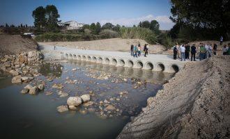 La Diputació reconstrueix el pas sobre el riu Missena que no podien usar els agricultors des de fa 11 anys