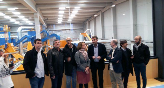 Cebrián afirma que la planta de Guadassuar exemplifica el canvi en la política de residus del Consell