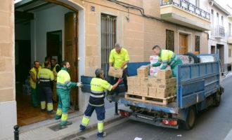 L'Ajuntament de Paiporta col·labora en el transport i l'entrega a Caritas de 10.120 quilos d'aliments