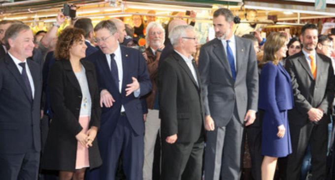 Ribó reivindica davant els reis i la ministra Montserrat les infraestructures que València necessita