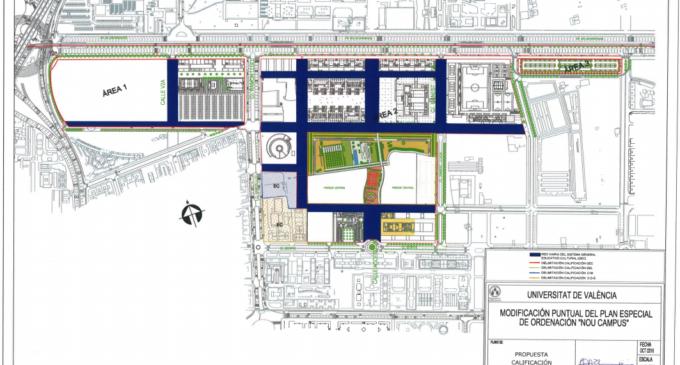 Sale a información pública la modificación del Plan Especial del Nou Campus de Tarongers, que permitirá su vallado