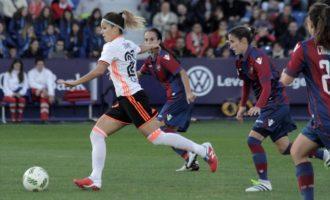 El Valencia Femení pateix la seua primera derrota davant el Levante