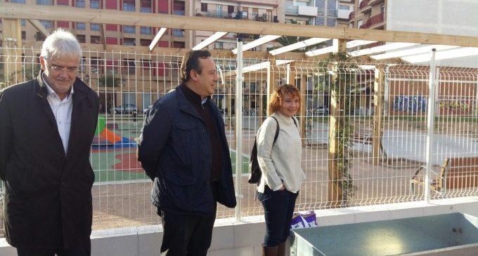 Comença en Nou Moles el primer taller d'hort inclusiu en el primer parc infantil i universal de València