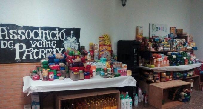 El Nadal Solidari de Patraix arranca amb la Campanya de Recollida d'Aliments