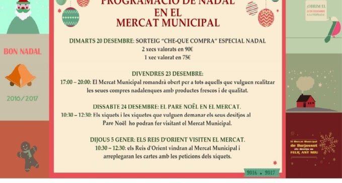 Pare Noel i els Reis Mags visitaran el Mercat Municipal de Burjassot en aquests dies de festa