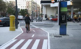 Entra en funcionament el nou carril bici del carrer Clariano