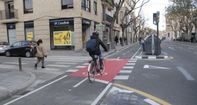 Mobilitat avança en la senyalització del carril bici de Guillem de Castro