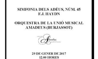 L'Orquestra de la Unió Musical Amadeus toca a benefici de l'Associació de Familiars Alzheimer València