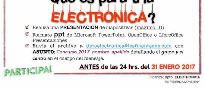 L'IES Federica Montseny convoca el seu Concurs sobre Electrònica en la XXXI Setmana Tècnica