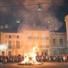 Un any més, Alcàsser celebra Sant Antoni en la Plaça del Castell
