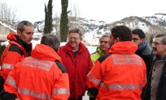 Puig agraeix el treball dels operaris per normalitzar la situació després del temporal