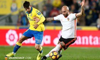 El Valencia va pagar car els seus errors contra Las Palmas