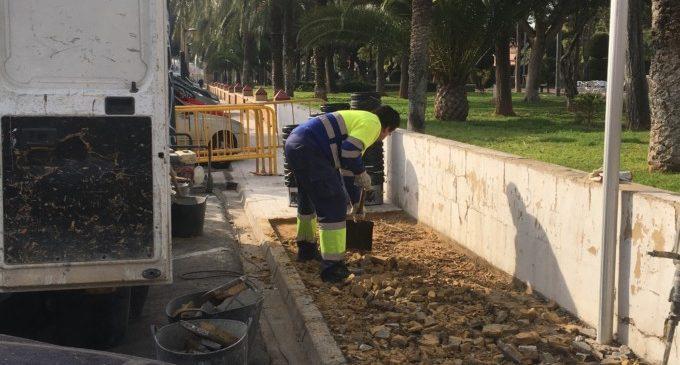 L'Ajuntament d'Alfafar segueix amb les millores de manteniment en el barri Sant Jordi