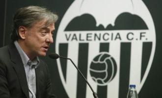 Dimiteix Suso García Pitarch en plena crisi en el Valencia CF