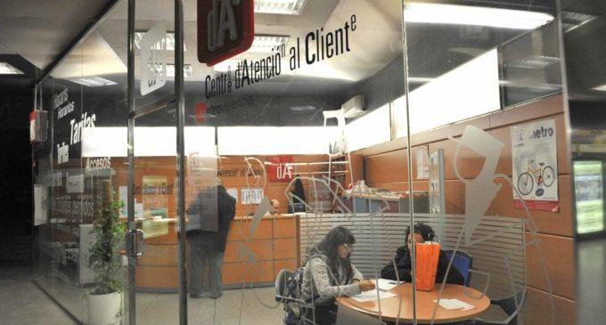 Els Centres d'Atenció al Client de Metrovalencia han atés més de 360.000 visites en l'últim any