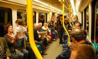 Divuit estacions de Metrovalencia van superar el milió de viatgers en 2016