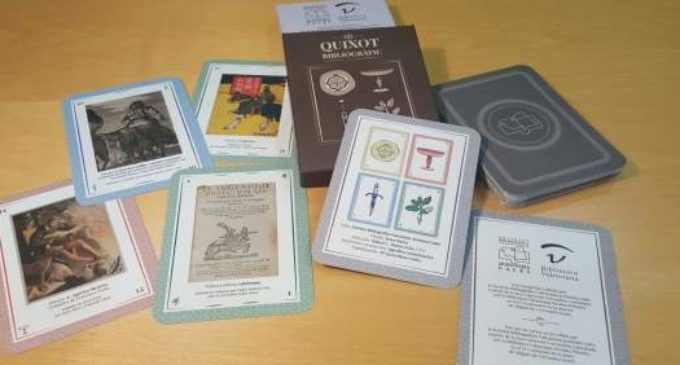La exclusiva baraja del Quijote de la Sociedad Bibliográfica Valenciana