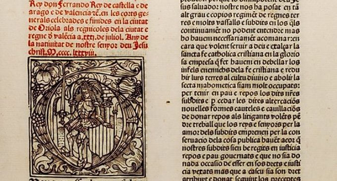 La Biblioteca Digital Mundial mostra una desena de llibres i fons documentals valencians