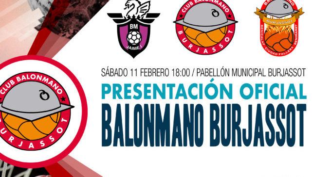 Els equips del Club Handbol Burjassot es presenten a la seua afició en el Pavelló Cobert.