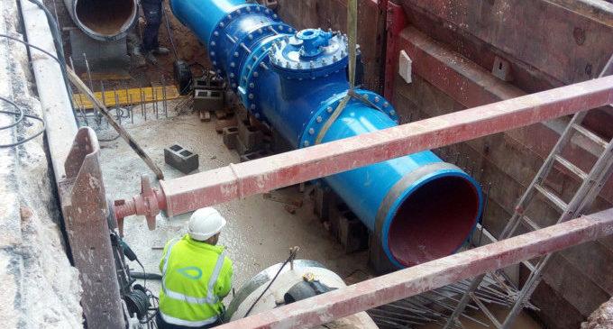 Vàlvula de 800 mil·límetres per a millorar la regulació d'aigua potable a València