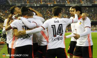 El Valencia va superar al capdavanter de la Lliga amb valor i orgull