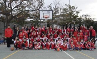 Presentats els equips de l'Escola de Bàsquet del CEIP El Pouet-Verge dels Desemparats i de l'Escola del Col·legi La Nativitat