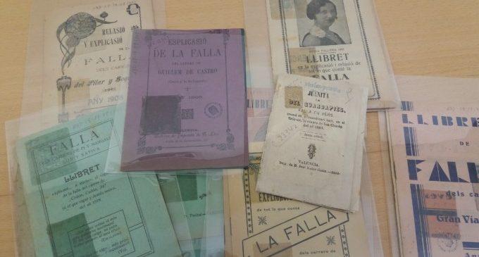 La Biblioteca Valenciana emmagatzema en els seus depòsits 5.464 'llibrets' de Falles