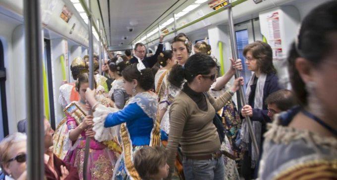 Metrovalencia ha transportado a más de 1.800.000 viajeros del 15 al 19 de marzo, un 4,7% más