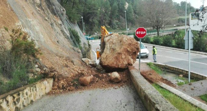 La Diputació reobri les vies afectades pel temporal i comença a reparar els danys registrats en les carreteres