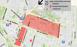 On aparcar gratis a les Falles de València