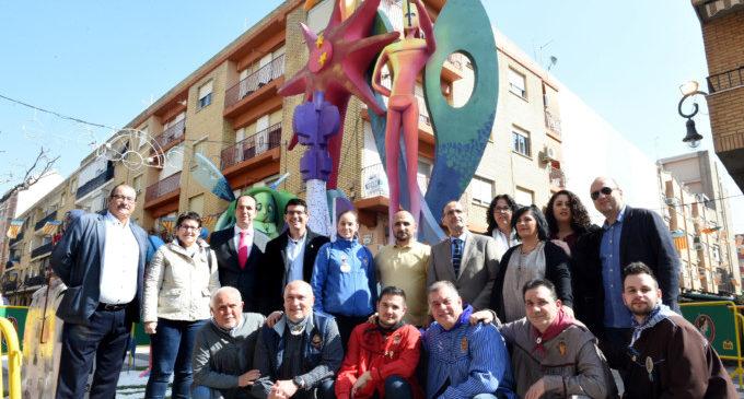"""Jorge Rodríguez en les Falles d'Aldaia: """"Esta festa es patrimoni de totes les comarques valencianes"""""""